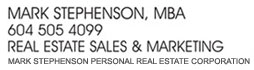 Mark Stephenson real estate west vancouver sales marketing